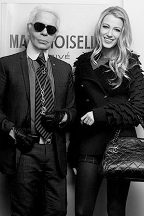 Blake Lively and Karl Lagerfeld Jan. 5